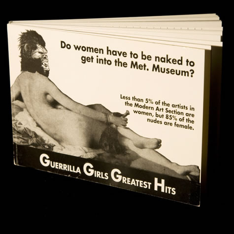 Guerrilla Girls Greatest Hits, 1991, Artists' Books at the University of Oregon Libraries
