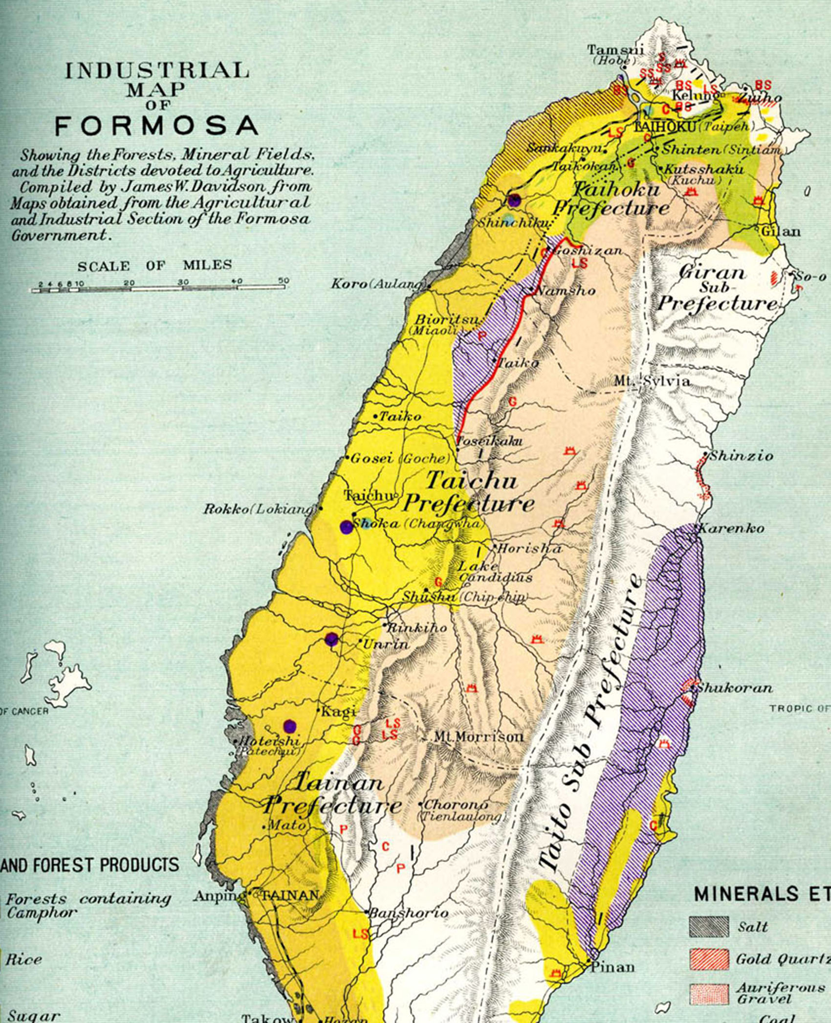 Color topographical map of Formosa, e-Asia Digital Library