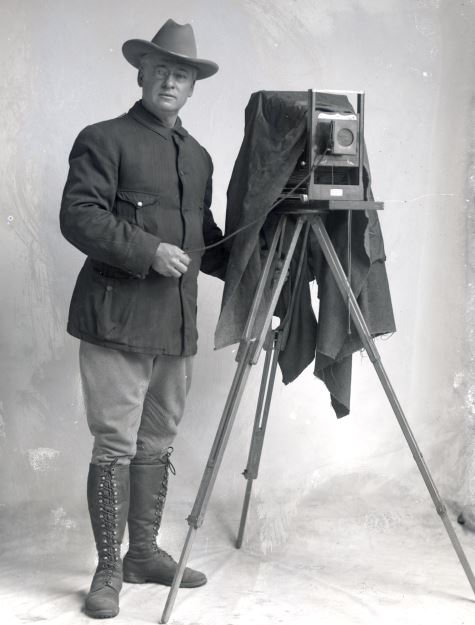 Benjamin A. Gifford with 8x10 view camera, Gifford Photographic Collection