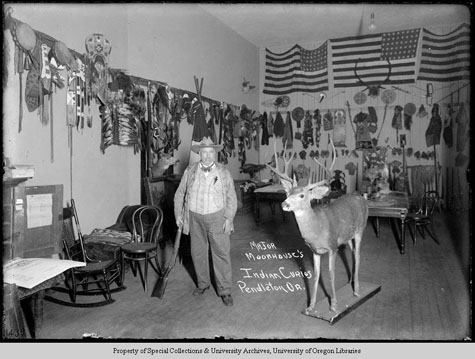 Major Moorhouse's Indian Curios Pendelton Or, Moorhouse Collection, PH036-1439, Picturing the Cayuse, Walla Walla, and Umatilla Tribes