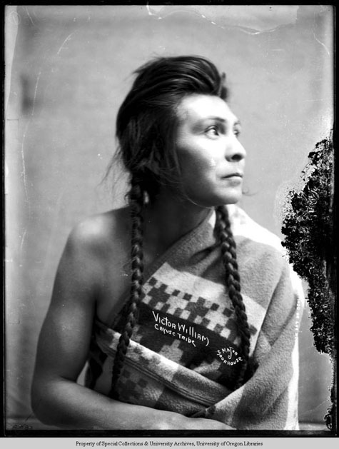 Victor William Cayuse Tribe, Moorhouse Collection, PH036-4089, Picturing the Cayuse, Walla Walla, and Umatilla Tribes