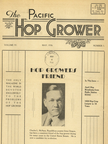 The Pacific Hop Grower, May 1936-May 1937, Oregon Hops & Brewing Archives