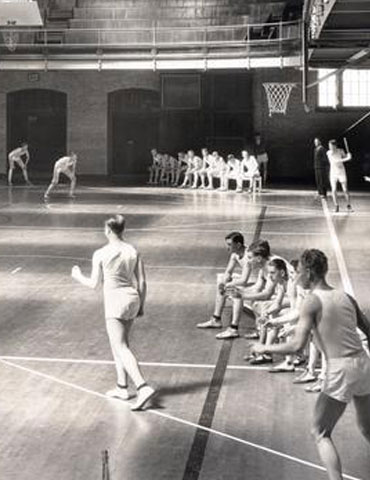 A game of indoor softball, ca. 1920s, Oregon State University Athletics