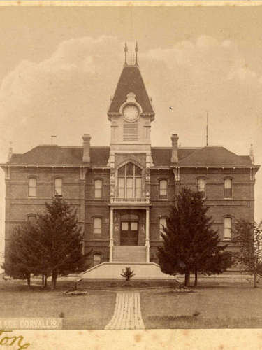 The College Building (now Benton Hall), 1890, Historical Images of Oregon State University