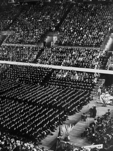 First graduation at Gill Coliseum, 1950, Historical Images of Oregon State University