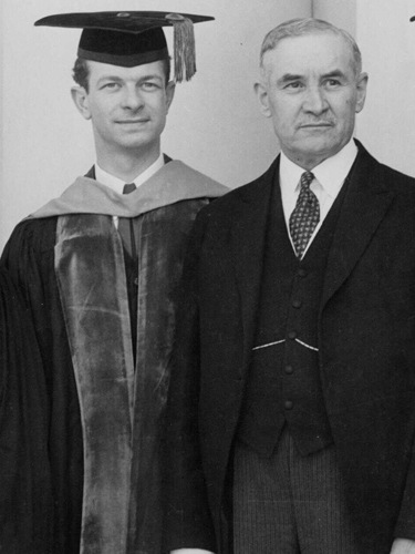 Linus Pauling receiving an honorary doctorate from his alma mater, 1933, Historical Images of Oregon State University
