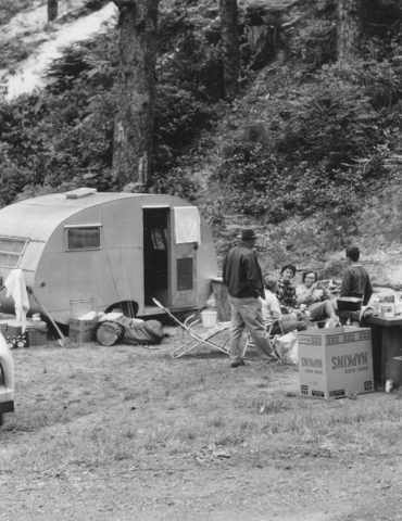 Camping Family with Small Trailer, The Siuslaw National Forest Collection