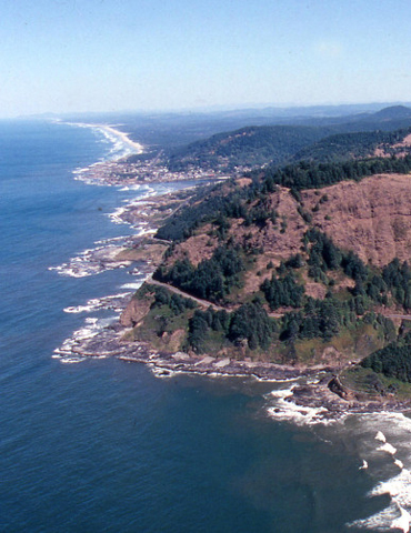 Ariel View of Cape Perpetua, The Siuslaw National Forest Collection