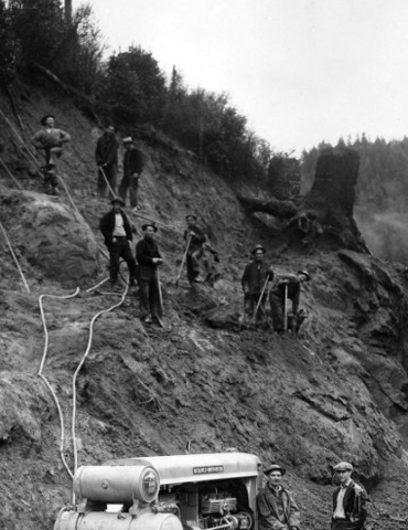 Compressor and Drill Crew, The Siuslaw National Forest Collection