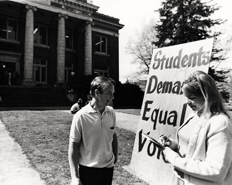 Students demand equal voice, UO Archives Photographs