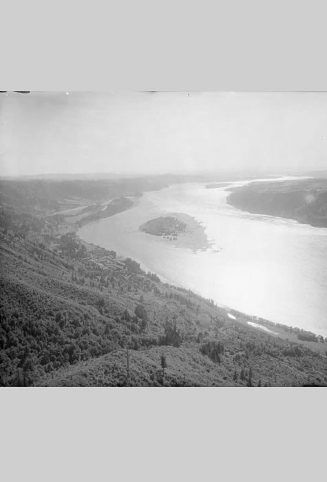 View looking west from Angel's Rest, Angelus Studio Collections, Western Waters Digital Library