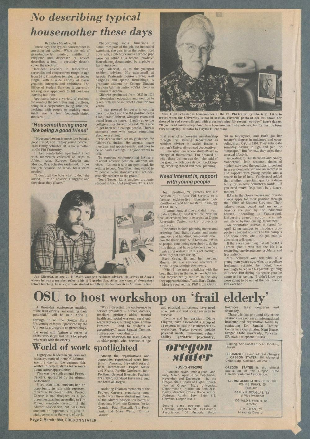 Oregon Stater, March 1980 | Oregon State University Alumni