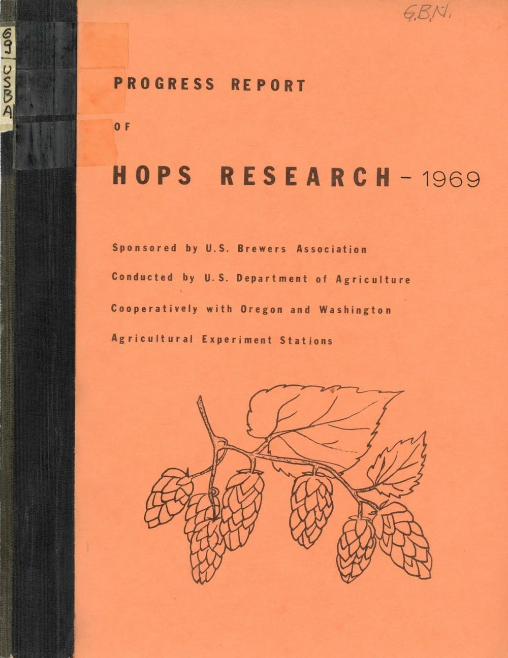 1969 Progress Reports on Hops Research and Budg    | Oregon