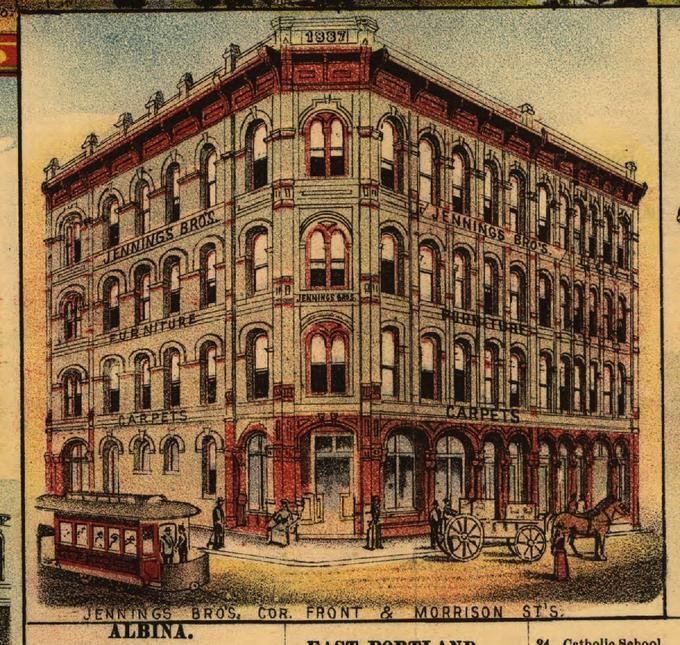 Title: Jennings Brothers Furniture Company (Portland, Oregon); LC Subject:  Architecture, American Architecture  United States; Description: This Image  Is ...