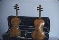 Matched set of violins, front view