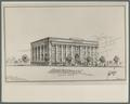 Drawing of the School of Pharmacy building, circa 1924