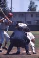 Stanford University player at bat