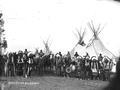 Indian Chiefs in front of tipis