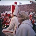 Members of the OSU band on the sideline at the 1965 Rose Bowl