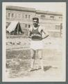 A track and field athlete from Chemawa Indian School, circa 1920s