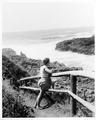 Woman standing on trail at Devils Churn