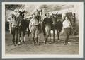 Four women with horses, circa 1930