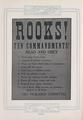 """Rooks! Ten Commandments"" Poster"