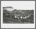 Postcard image of Serpentine between halves of the U of O vs. OAC football game, December 3, 1910