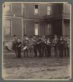 The OAC cadet band in front of Cauthorn (now Fairbanks) Hall