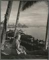 Nancy Dewey on the beach in the East Indies