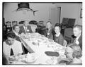 An unidentified alumni banquet meeting