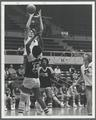 Carol Menken shooting over a San Jose State defender