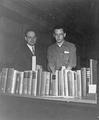 Jim Clabby (on right) and his books
