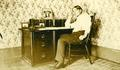 Young man at desk