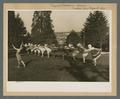 Mother's Day pageant, women dancing on the lawn, 1925