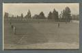 Baseball game, view of second base and the outfield, circa 1910