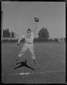 Unidentified Oregon State baseball player catching the ball