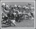 OSU Marching Band on the sidelines at a football game