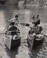 Students canoeing on the Mary's River