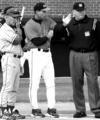Coach Pat Casey and umpire