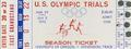 1972 U. S. Olympic trials season ticket