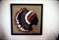 Hooked Indian head by Mr. M from pattern