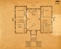 Floor plan showing Administration Building first floor in 1895.