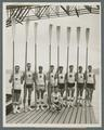University of Washington rowing team at Poughkeepsie, New York, 1925
