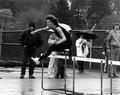 Kathy Weston hurdle jumping