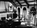 Memorial Union lounge with Christmas decorations