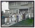"Female students and children at ""Practice House"" (Withycombe House)"