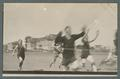 Finish of 100 yard dash, class track meet, May 8, 1910
