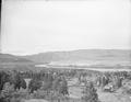 The Dalles from hill southeast of town. Columbia River in B.G. ca. 1908