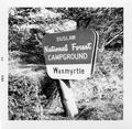 Sign for Siuslaw National Forest Wax Myrtle Campground